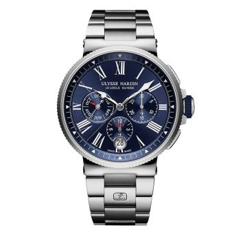 Ulysse Nardin Marine Chronograph Stainless Steel 43mm Watch
