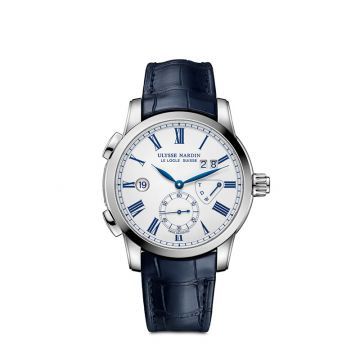 Ulysse Nardin Classico Dual Time Stainless Steel 42mm Watch