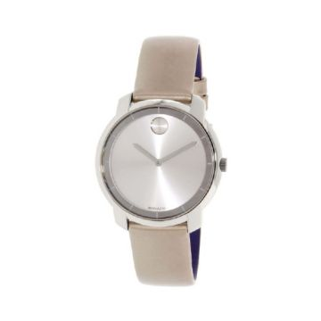 Movado Bold Women's Stainless Steel and Leather Watch