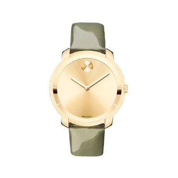 Movado Bold Yellow Stainless Steel on Leather Women's Watch