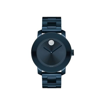 Mid-size Movado Bold Ink Blue Ion-Plated Stainless Steel Women's Watch