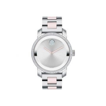 Movado Stainless Steel Bold Ceramic Womens Watch