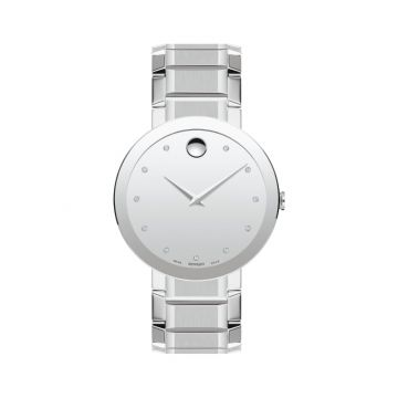 Movado Stainless Steel Sapphire Sapphire Mens Watch