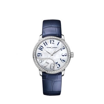 Ulysse Nardin Classico Jade Stainless Steel 37mm Watch