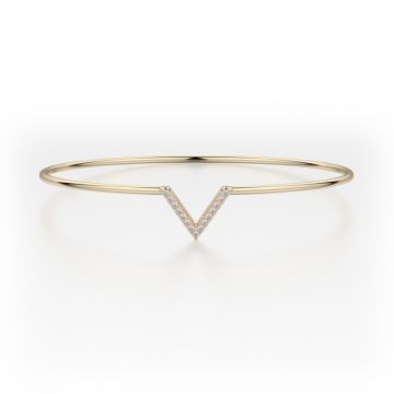 Michael M 14k Yellow Gold Diamond Bangle Bracelet