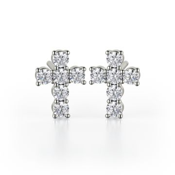 Michael M 18k Gold White Studs Earring