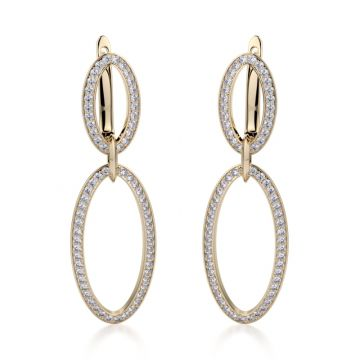 Michael M 14k Yellow Gold Diamond Drop Earrings