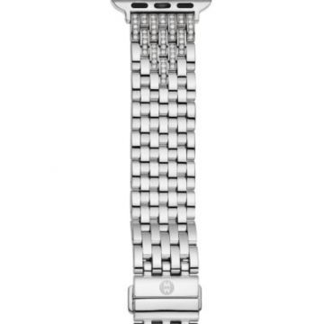 Michele 38/40mm Stainless Diamond Bracelet Band for Apple Watch
