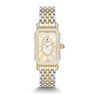 Michele Special-Edition Deco Park Two-Tone Diamond Watch