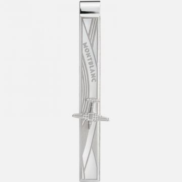 Montblanc Tie Bar In Stainless Steel With Airplane Engraving