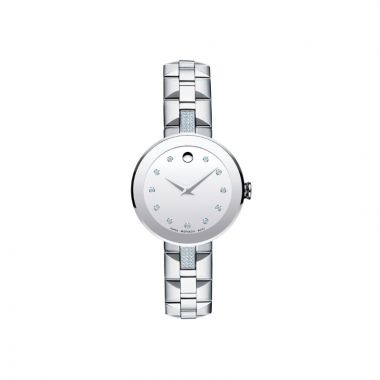 Movado Sapphire Womens Stainles Steel Watch