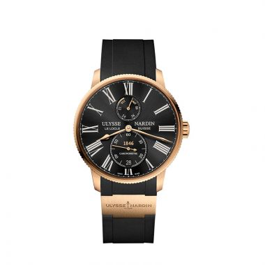 Ulysse Nardin Marine Torpilleur Chronometer 18k Rose Gold 42mm Watch