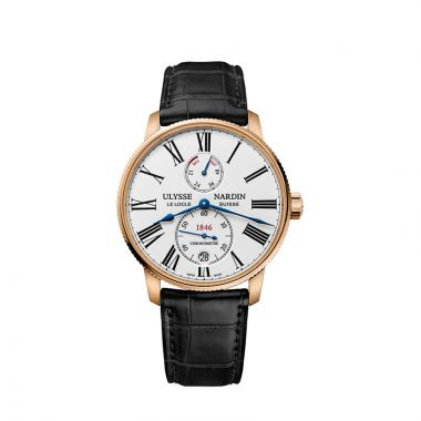 Ulysse Nardin Marine Torpilleur Chronometer Rose Gold 42mm Watch