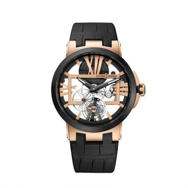 Ulysse Nardin Executive Tourbillon 18k Rose Gold 45mm Watch