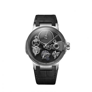 Ulysse Nardin Executive Tourbillon Free Wheel 18k White Gold 44mm Watch