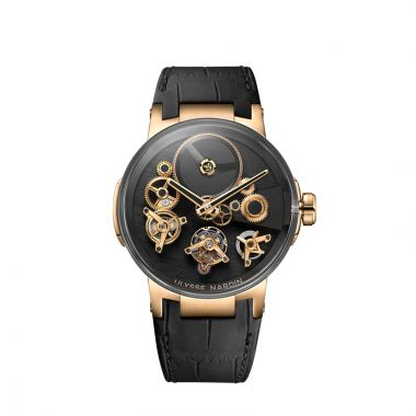 Ulysse Nardin Executive Tourbillon Free Wheel 18k Rose Gold 44mm Watch