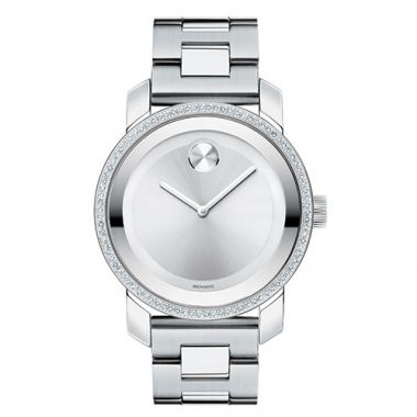 Movado Stainless Steel Bold Diamond Watch