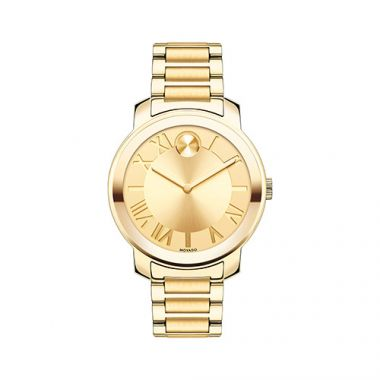 Mid-size Movado Bold Luxe Yellow Gold Ion-Plated Stainless Steel Men's Watch