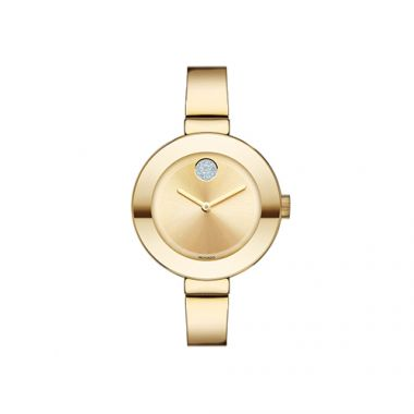 Mid-size Movado Bold Yellow Gold Ion-Plated Stainless Steel Women's Watch