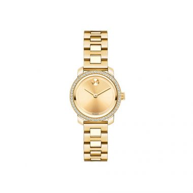 Small Movado Bold Diamond Yellow Gold Ion-Plated Stainless Steel Women's Watch