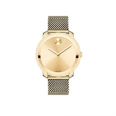 Mid-size Movado Bold Yellow Gold Ion-Plated Stainless Steel Men's Watch
