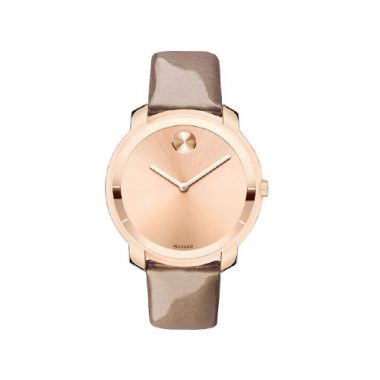 Movado Bold Rose Stainless Steel on Leather Women's Watch