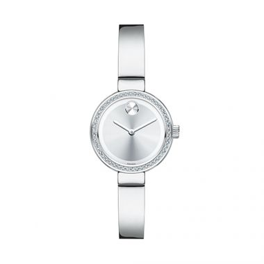 Small Movado Bold Diamond Stainless Steel Men's Watch