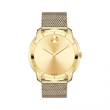 Large Movado Bold Yellow Gold Ion-Plated Stainless Steel Men's Watch
