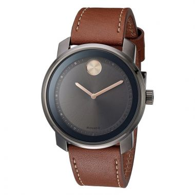 Large Movado Bold Gunmetal Gray Ion-Plated Stainless Steel Men's Watch