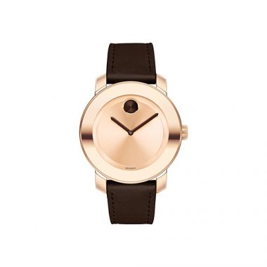 Mid-size Movado Bold Rose Gold Ion-Plated Stainless Steel Men's Watch