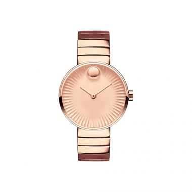 Movado Edge Rose Gold PVD-finished Stainless Steel Women's Watch