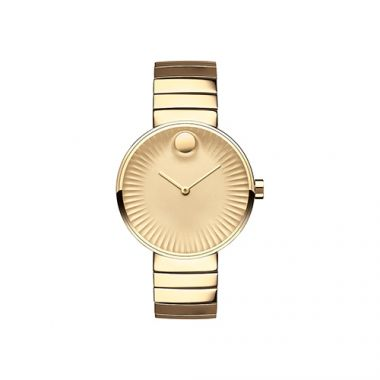 Movado Edge Yellow Gold PVD-finished Stainless Steel Women's Watch
