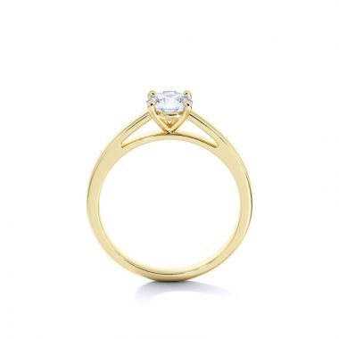 Sasha Primak Round 4-Prong Cathedral Solitaire
