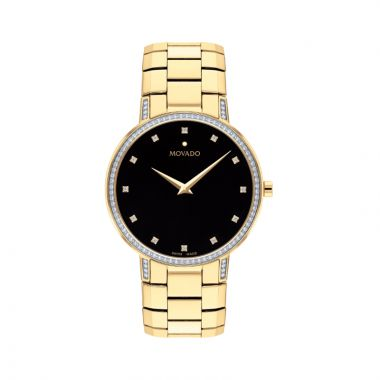 Movado Stainless Steel Faceto Mens Watch