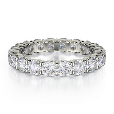 Michael M 18k White Gold Eternity Wedding Band