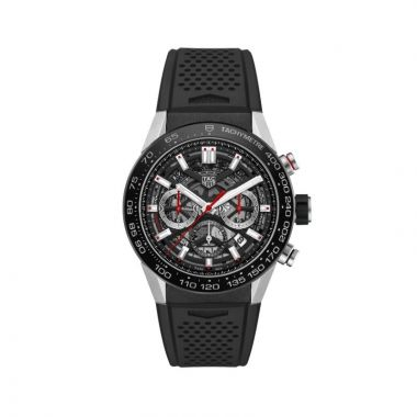 Tag Heuer Carrera Automatic Strap Black 45mm Watch