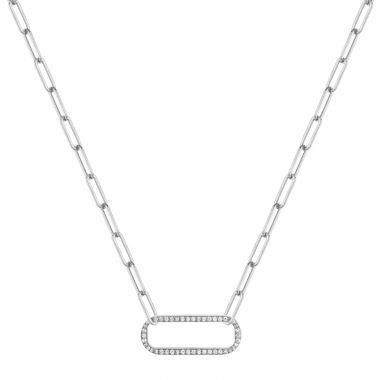 Michael M 14k White Gold Diamond Necklace