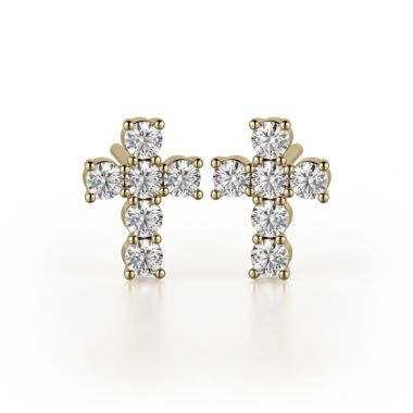 Michael M 18k Gold Yellow Studs Earring