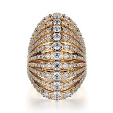 Michael M 18k Gold Yellow Diamond Ring