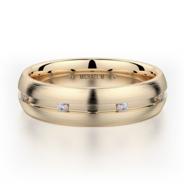 Michael M 18k Yellow Gold Men's Wedding Band