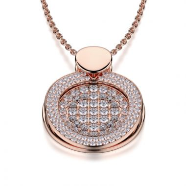 Michael M 18k Gold Rose Diamond Pendant