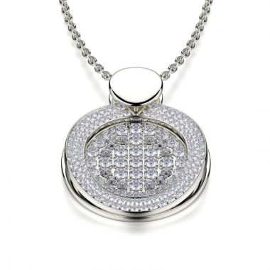 Michael M 18k Gold White Diamond Pendant