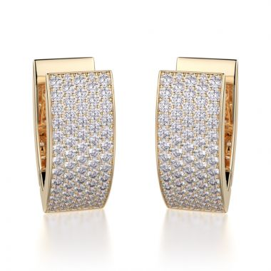 Michael M 18k Gold Yellow Huggies Earring