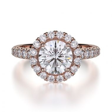 Michael M 18k Rose Gold Europa Engagement Ring