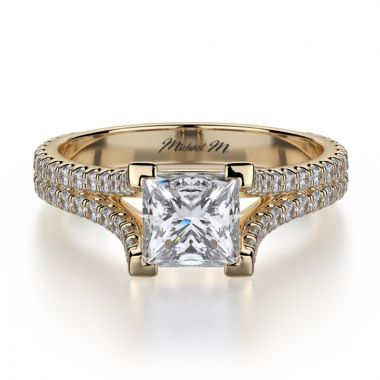 Michael M 18k Yellow Gold Europa Engagement Ring