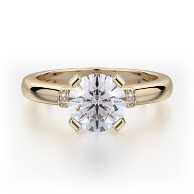 Michael M 18k Yellow Gold Love Engagement Ring