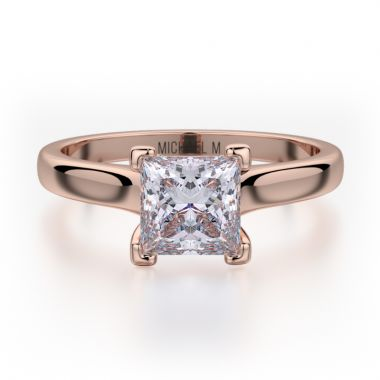 Michael M 18k Rose Gold Love Engagement Ring