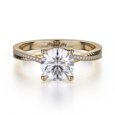 Michael M 18k Yellow Gold M Engagement Ring