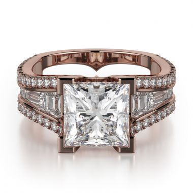 Michael M 18k Rose Gold Monaco Engagement Ring