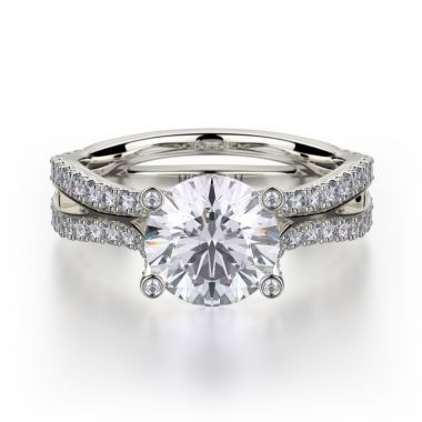 Michael M 18k White Gold Monaco Engagement Ring